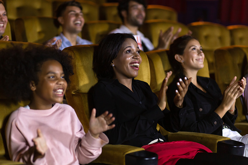 family at the theater
